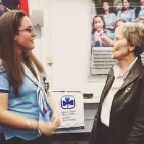 Roberta Bondar and I at a GGC Event