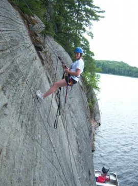 Rock Climbing on WahWashkesh when I was 15